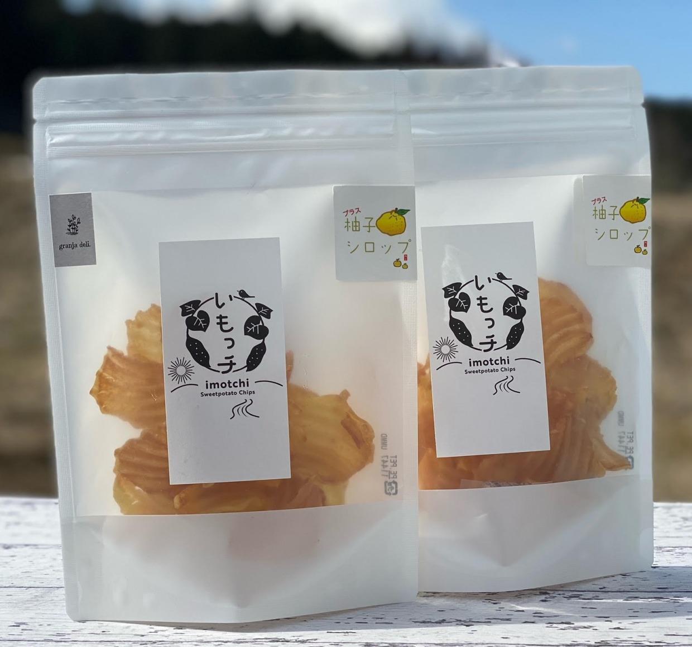 無農薬 さつまいもチップス+柚子 「いもっチ 柚子MIX」(50g) ×4個セット